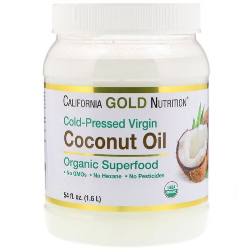 California Gold Nutrition, Cold-Pressed Organic Virgin Coconut Oil, 54 fl oz (1.6 L) Review