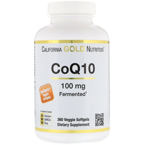 California Gold Nutrition, CoQ10, 100 mg, 360 Veggie Softgels Review