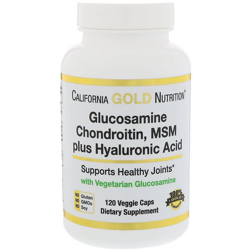 California Gold Nutrition, Glucosamine, Chondroitin, MSM Plus Hyaluronic Acid, 120 Veggie Caps Review