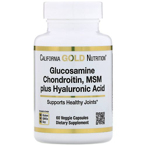 California Gold Nutrition, Glucosamine Chondroitin, MSM plus Hyaluronic Acid, 60 Veggie Capsules Review