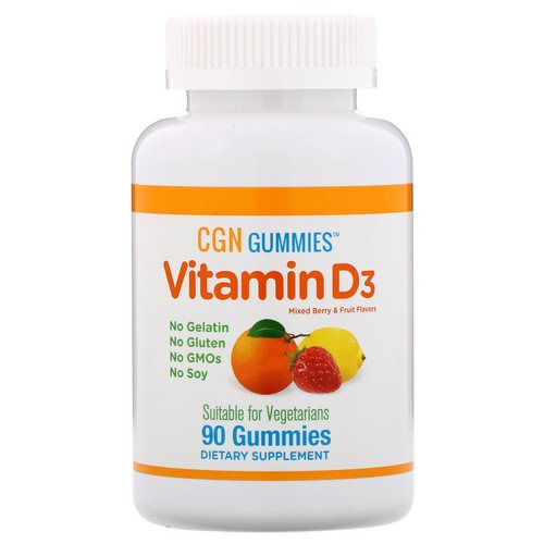 California Gold Nutrition, Organic, Vitamin D3 Gummies, No Gelatin, No Gluten, Mixed Berry & Fruit Flavors, 90 Gummies Review