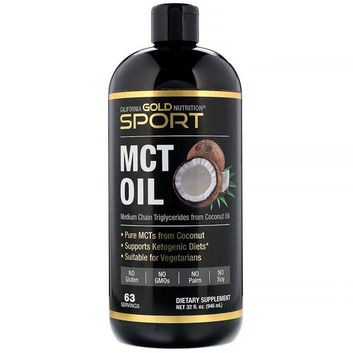 California Gold Nutrition, Sport, MCT Oil, 32 fl oz (946 ml) Review