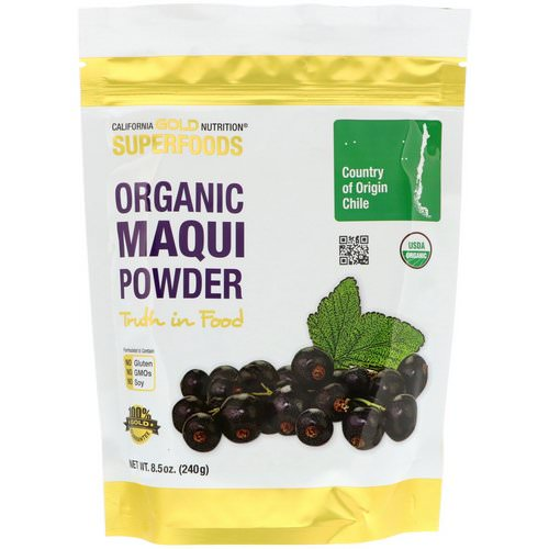 California Gold Nutrition, Superfoods, Organic Maqui Powder, 8.5 oz (240 g) Review