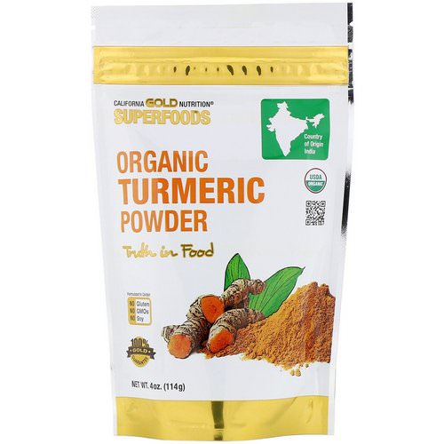 California Gold Nutrition, Superfoods, Organic Turmeric Powder, 4 oz (114 g) Review