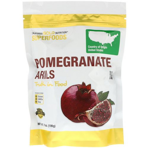California Gold Nutrition, Superfoods, Pomegranate Arils, 7 oz (199 g) Review