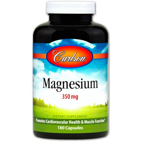 Carlson Labs, Magnesium, 350 mg, 180 Capsules Review