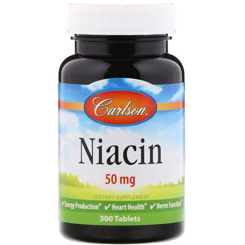 Carlson Labs, Niacin, 50 mg, 300 Tablets Review