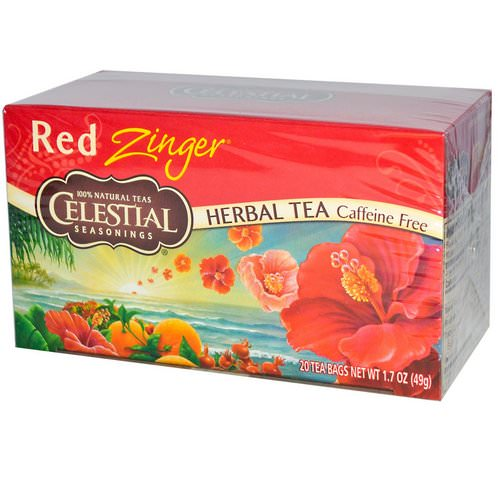 Celestial Seasonings, Herbal Tea, Caffeine Free, Red Zinger, 20 Tea Bags, 1.7 oz (49 g) Review