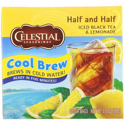 Celestial Seasonings, Iced Black Tea & Lemonade, Half and Half, 40 Tea Bags, 3.0 oz (85 g) Review