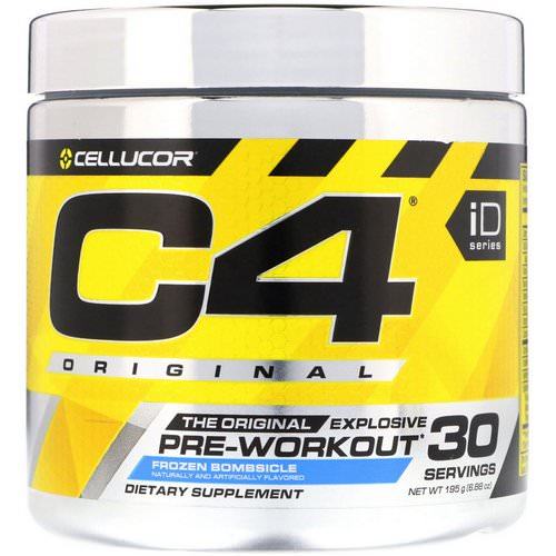 Cellucor, C4 Original Explosive, Pre-Workout, Frozen Bombsicle, 6.88 oz (195 g) Review