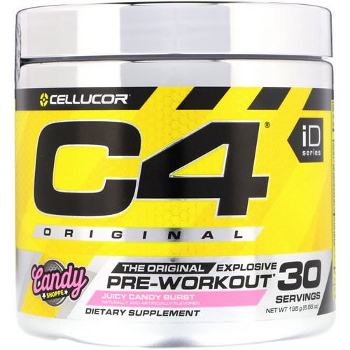 Cellucor, C4 Original Explosive, Pre-Workout, Juicy Candy Burst, 6.88 oz (195 g) Review