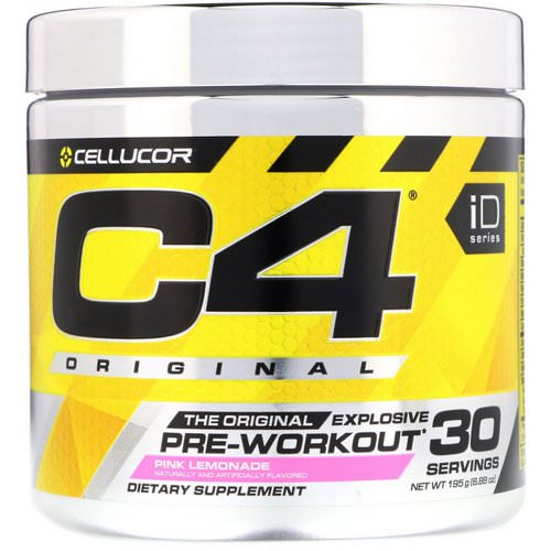 Cellucor, C4 Original, Explosive Pre-Workout, Pink Lemonade, 6.88 oz (195 g) Review