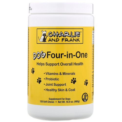 Charlie & Frank, Dog Four-in-One, 120 Soft Chews Review