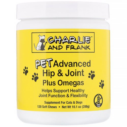 Charlie & Frank, PET Advanced Hip & Joint Plus Omegas, For Cats & Dogs, 120 Soft Chews Review