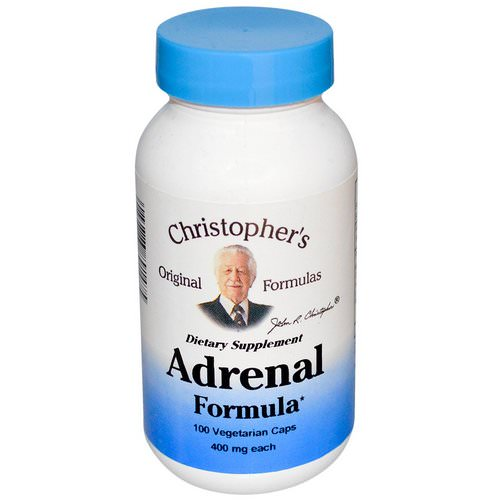 Christopher's Original Formulas, Adrenal Formula, 400 mg, 100 Veggie Caps Review