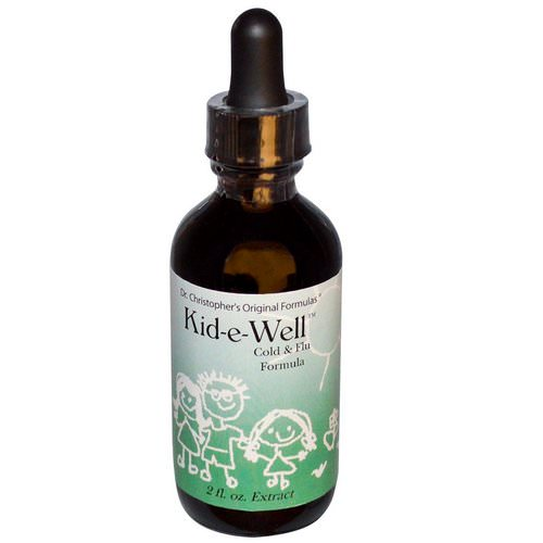 Christopher's Original Formulas, Kid-e-Well, Cold & Flu Formula Extract, 2 fl oz Review