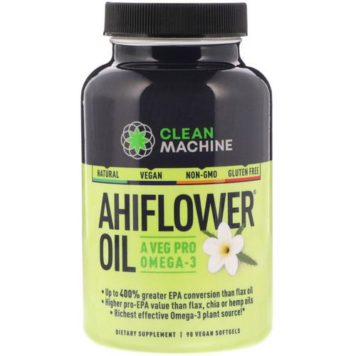 CLEAN MACHINE, Ahiflower Oil, 90 Vegan Softgels Review