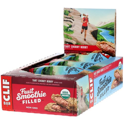 Clif Bar, Energy Bars, Fruit Smoothie Filled, Tart Cherry Berry, 12 Bars, 1.76 oz (50 g) Each Review
