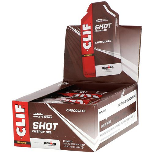 Clif Bar, Shot Energy Gel, Chocolate, 24 Packets, 1.2 oz (34 g) Each Review
