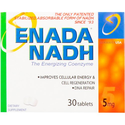ENADA, Enada NADH, The Energizing Coenzyme, 5 mg, 30 Tablets Review