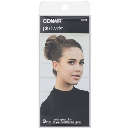 Conair, Pin Twirls, Metal Spiral Pins, 3 Pieces Review