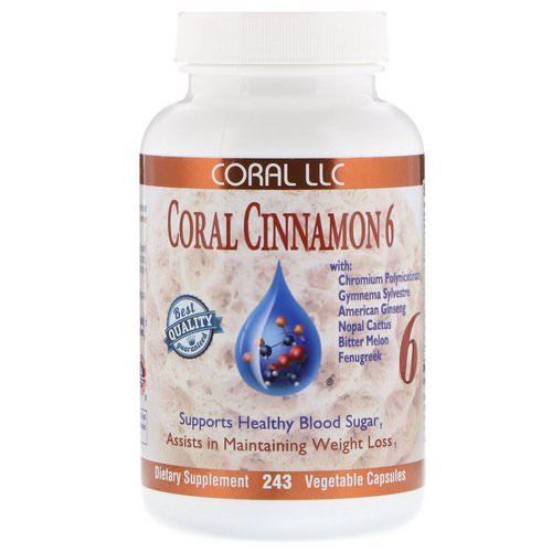 CORAL LLC, Coral Cinnamon 6, 243 Vegetable Capsules Review