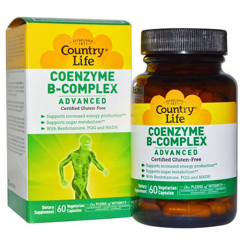 Country Life, Coenzyme B-Complex, Advanced, 60 Vegetarian Capsules Review