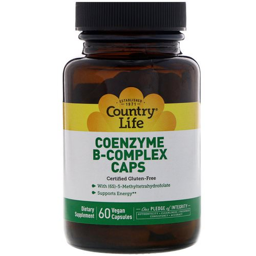 Country Life, Coenzyme B-Complex Caps, 60 Vegan Capsules Review