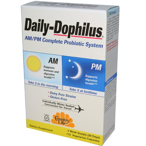 Country Life, Daily-Dophilus, AM/PM Complete Probiotic System, 112 Veggie Caps Review