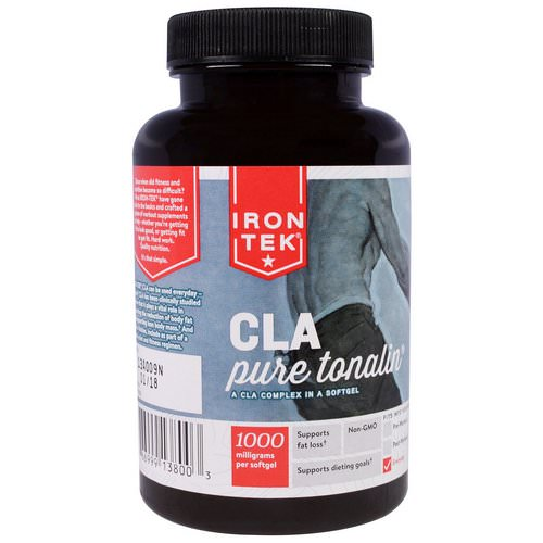 Country Life, Iron-Tek, CLA, Pure Tonalin CLA Complex, 1000 mg, 90 Softgels Review