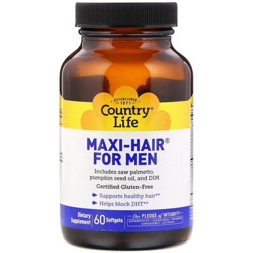 Country Life, Maxi Hair for Men, 60 Softgels Review