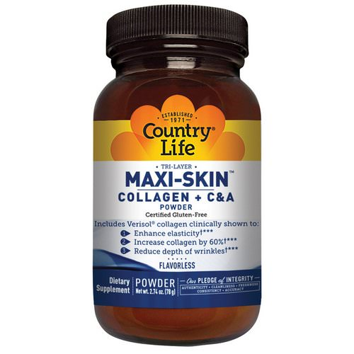 Country Life, Maxi-Skin Collagen + C & A Powder, Flavorless, 2.74 oz (78 g) Review