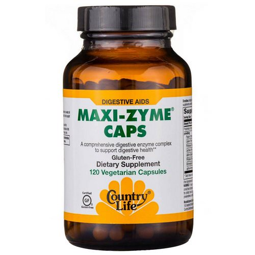Country Life, Maxi-Zyme Caps, 120 Vegetarian Capsules Review
