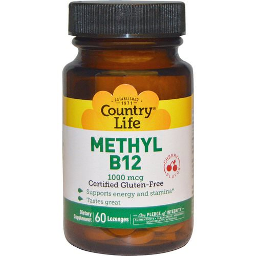 Country Life, Methyl B12, Cherry Flavor, 1000 mcg, 60 Lozenges Review