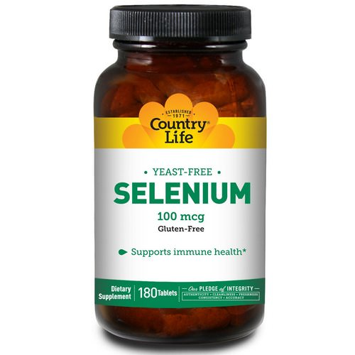 Country Life, Selenium, 100 mcg, 180 Tablets Review
