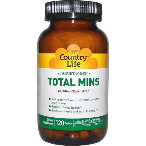 Country Life, Target-Mins, Total Mins, 120 Tablets Review