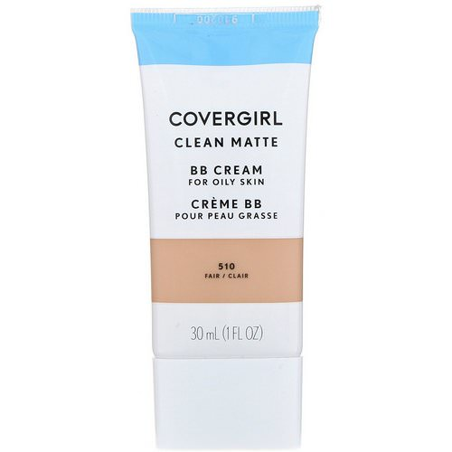 Covergirl, Clean Matte BB Cream, 510 Fair, 1 fl oz (30 ml) Review