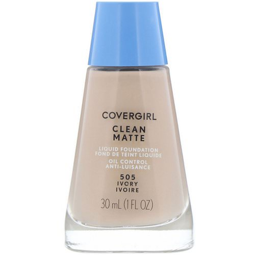 Covergirl, Clean Matte Liquid Foundation, 505 Ivory, 1 fl oz (30 ml) Review