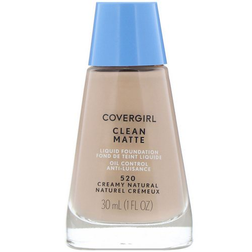 Covergirl, Clean Matte Liquid Foundation, 520 Creamy Natural, 1 fl oz (30 ml) Review