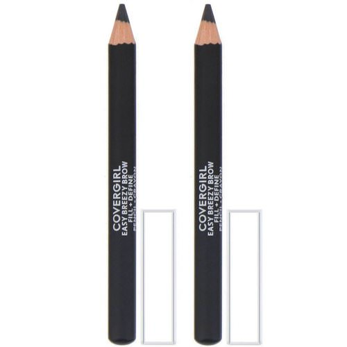 Covergirl, Easy Breezy, Brow Fill + Define Pencils, 500 Black, 0.06 oz (1.7 g) Review