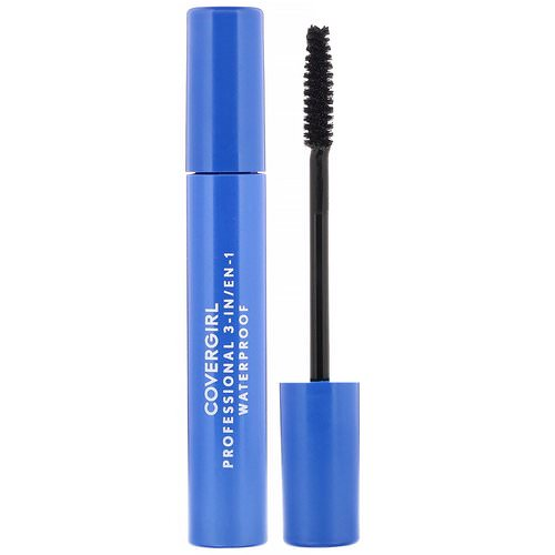 Covergirl, Professional, 3-in-1 Waterproof Mascara, 225 Very Black, .3 fl oz (9 ml) Review