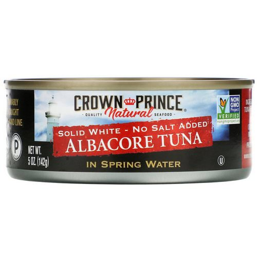 Crown Prince Natural, Albacore Tuna, Solid White - No Salt Added, In Spring Water, 5 oz (142 g) Review