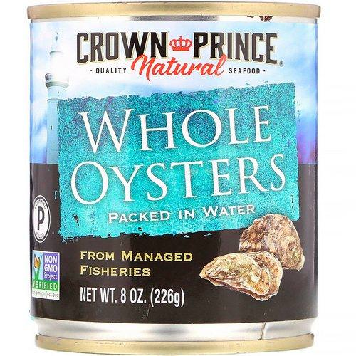 Crown Prince Natural, Whole Oysters, Packed In Water, 8 oz (226 g) Review