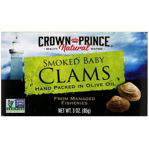 Crown Prince Natural, Smoked Baby Clams in Olive Oil, 3 oz (85 g) Review