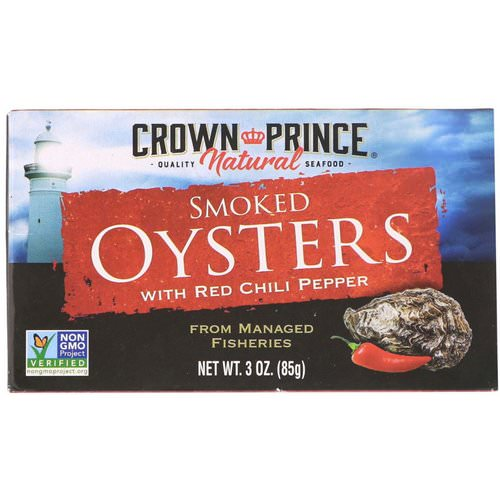Crown Prince Natural, Smoked Oysters, with Red Chili Pepper, 3 oz (85 g) Review