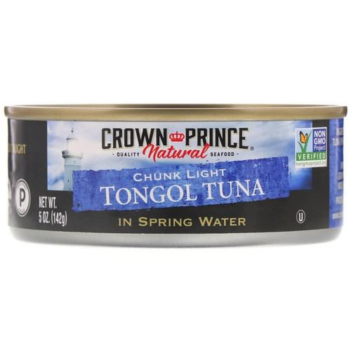 Crown Prince Natural, Tongol Tuna, Chunk Light, In Spring Water, 5 oz (142 g) Review