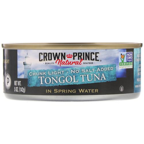 Crown Prince Natural, Tongol Tuna, Chunk Light - No Salt Added, In Spring Water, 5 oz (142 g) Review