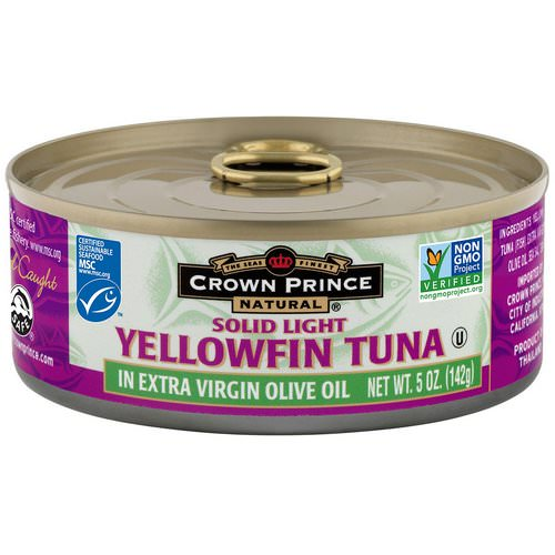 Crown Prince Natural, Yellowfin Tuna, Solid Light, In Extra Virgin Olive Oil, 5 oz (142 g) Review