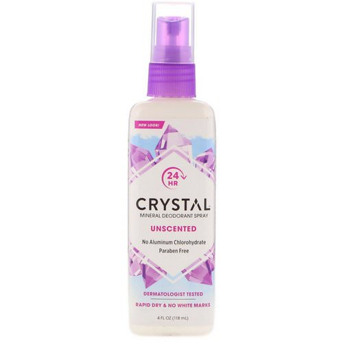 Crystal Body Deodorant, Mineral Deodorant Spray, Unscented, 4 fl oz (118 ml) Review