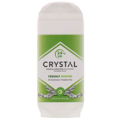 Crystal Body Deodorant, Mineral Enriched Deodorant, Invisible Solid, Freshly Minted, 2.5 oz (70 g) Review
